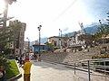 Abancay Peru- Plaza Micaela Bastidas- statue and mountains.jpg