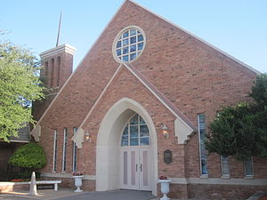 Funeral home - Abbey Chapel at the Resthaven Memorial Park Cemetery in Lubbock, Texas