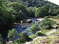 Aberglaslyn Pass with walkway beside - geograph.org.uk - 2036643.jpg