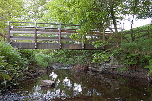 River Yarrow (Lancashire) - Shortly after departing the reservoirs, the river passes through an area of Chorley formerly known as Abyssinia