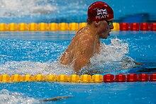 peaty at the rio olympics 100m breaststroke
