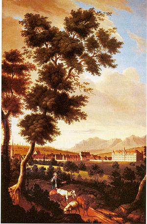 Joseph Johann Kauffmann - View of Tettnang, J.J.Kauffmann, about 1757