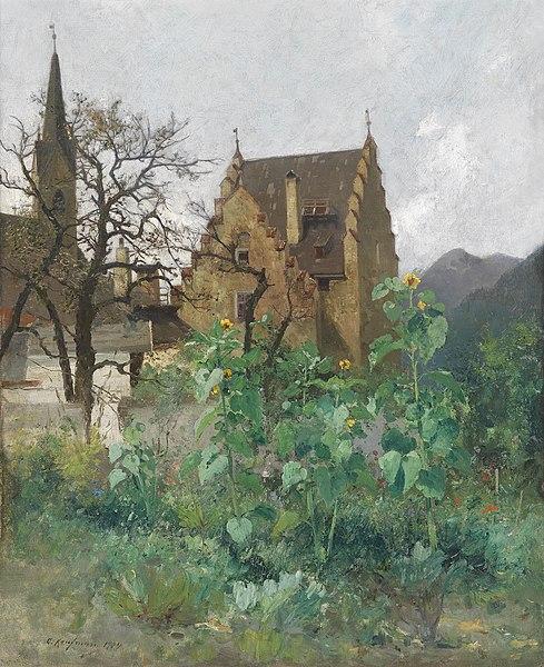 File:Adolf Kaufmann Sonnenblumen im Vorgarten 1904.jpg