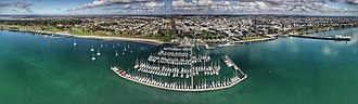 Geelong - Aerial perspective of Geelong waterfront