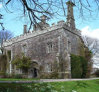"""Manor of Affeton - """"Affeton Castle"""", the gatehouse of the demolished manor house of Affeton"""