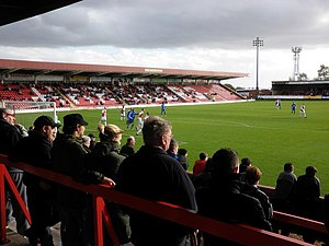 Kidderminster - Aggborough is the home ground of the professional club Kidderminster Harriers, formerly of the Football League.