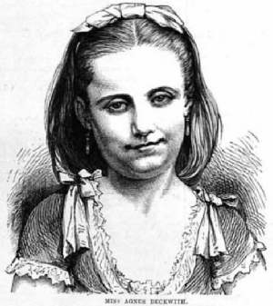 Agnes Beckwith - Image: Agnes Beckwith 1875