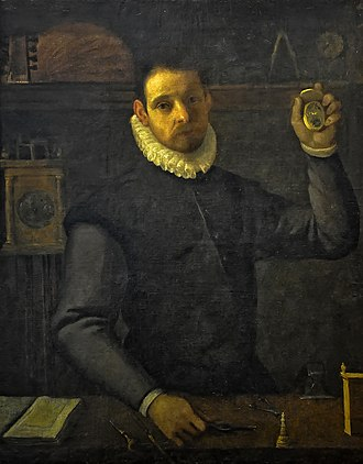 Agostino Carracci - Selfportrait as a watchmaker