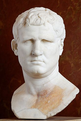 Marcus Vipsanius Agrippa - Bust of Marcus Vipsanius Agrippa from the Forum of Gabii, currently in the Louvre, Paris