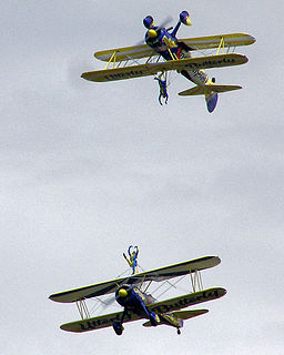 Air show event at which aviators display their flying skills and the capabilities of their aircraft