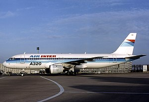 Air Inter Flight 148 - The aircraft involved in the accident at Charles de Gaulle Airport, 6 January 1991