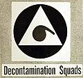 Air Raid Protective Services, Decontamination Squads, Civilian Defense insignia, WWII (34614793765).jpg