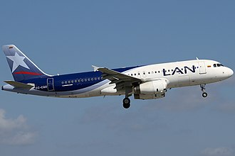 LATAM Colombia - Airbus A320 in LAN Colombia livery