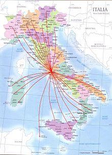 Network aeroporto Leonardo da Vinci - Italia