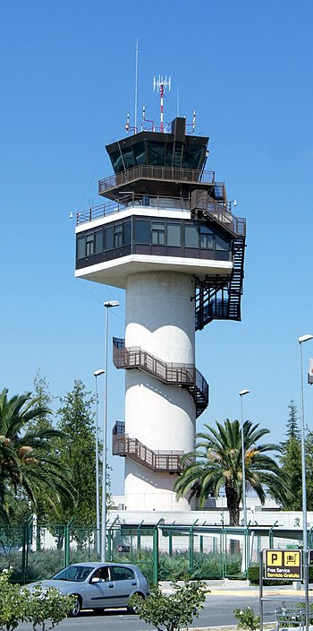 Airport tower granada spain