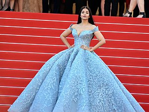 Michael Cinco - Aishwarya Rai wearing a Michael Cinco gown at the 70th Cannes Film Festival, 2017