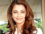 Aishwarya Rai is smiling at the camera