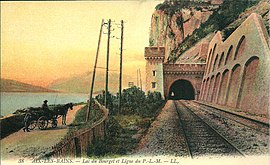A postcard view of the railway line in Saint-Germain-la-Chambotte