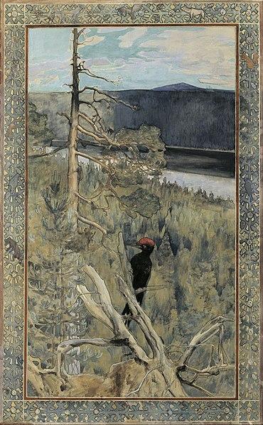 File:Akseli Gallen-Kallela - Great Black Woodpecker - Google Art Project.jpg