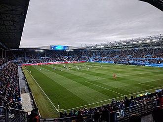 Mendizorrotza Stadium - Image: Alavés 2 2Lega 2018
