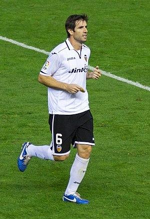 David Albelda - Albelda in action for Valencia in 2012.
