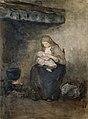 Albert Neuhuys - Moeder zoogt haar kind bij de haard.jpg