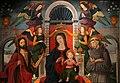 Alesso di benozzo, madonna in trono tra i ss. g. battista, francesco, angeli musicanti e donatore francescano (pala rigoli), 02.jpg