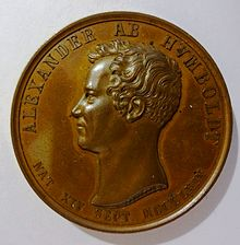 Medaille Alexander v. Humboldt (Loos 1829), 41 mm, ca. 46 g (Quelle: Wikimedia)