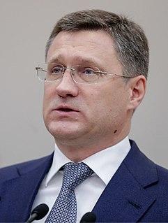 Alexander Novak Russian politician; Minister of Energy (2012-2020)