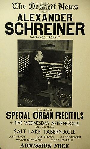 Alexander Schreiner - Image: Alexander Schreiner in recital