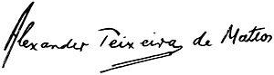 Alexander Teixeira de Mattos - Image: Alexander Teixeira de Mattos signature