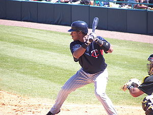 Alexi Casilla - Casilla batting for the Minnesota Twins in 2007 spring training