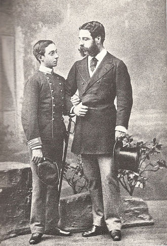 Alfonso XII of Spain - A young Alfonso with his mentor, the Duke of Sesto