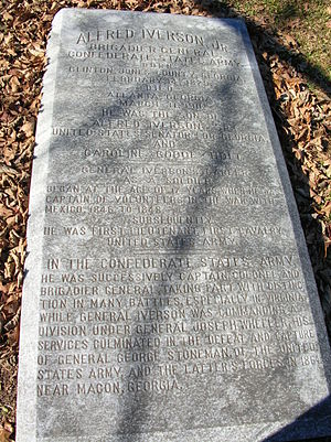 Alfred Iverson Jr. - Grave of Alfred Iverson Jr., Oakland Cemetery, Atlanta, Georgia
