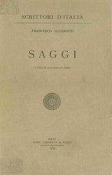 Francesco Algarotti: Saggi
