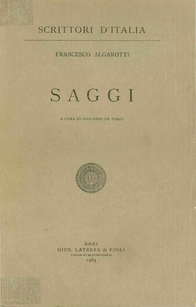 Archivo:Algarotti, Francesco - Saggi, 1963 - BEIC 1729548.djvu