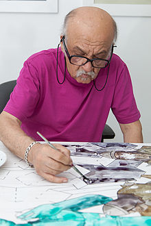 Ali Akbar Sadeghi in his studio, 2014.jpg