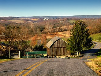 Allen Township, Northampton County, Pennsylvania - A view of a valley in the township