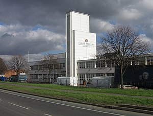 Sir Alexander Gibb & Partners - Allied Bakeries, St Pauls Cray, London and its art deco inspired tower.
