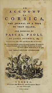 <i>An Account of Corsica</i> book by James Boswell