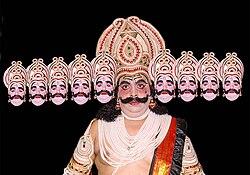 An Ramlila Actor In The Role of Ravana