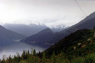 Anderson Lake (British Columbia) - Image: Anderson Lake, British Columbia 1990