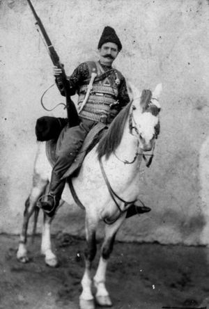Andranik - Andranik on his horse, early 1900s