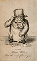 Andrew Whitson or Whiston, a dwarf. Engraving, 1821. Wellcome V0007300ER.jpg