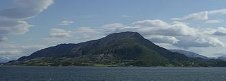 Leirfjord - View of Angerneset in western Leirfjord