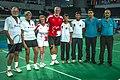Ankara - BWF World Senior Badminton Championships - XD 70 - Michehl-Klaar (GER) def Marg & Murray 15-21-21-11 & 21-17 (11078094374).jpg