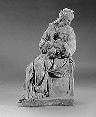 Seated Madonna with suckling Child