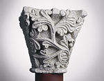 Anonyme toulousain - Chapiteau de colonne simple , Rameaux - Musée des Augustins - ME 215 (4).jpg