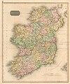 Antique Map of Ireland by John Thomson, 1815.jpg
