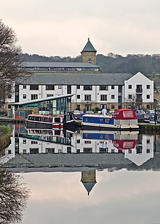 Apperley Bridge Village in West Yorkshire, England
